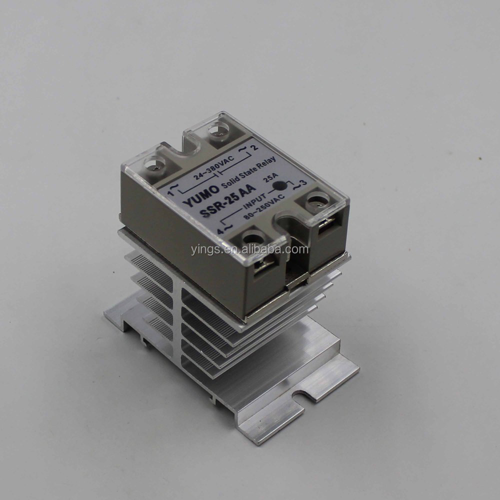 ssr 25aa solid state relais mit k hlk rper k hler relais. Black Bedroom Furniture Sets. Home Design Ideas