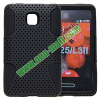 two in one Reticulated Shell Silicon for lg optimus l3 ii e430 e425 case