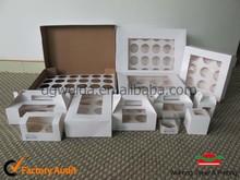wholesale custom paper cardboard cupcake packaging(1 to 24 cups)