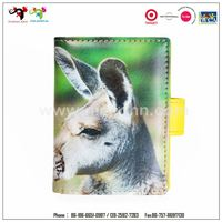 Chirstmas gift item cute elk money clip card holder snap button case