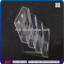 TSD-A634 Hot sale acrylic flyer display stand/table top brochure holder/ small display rack for flyers
