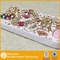Smartphone accessories for iphone, hot rhinestone mobile phone cover, cover for mobile phone