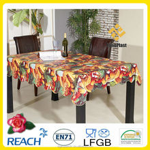 popular designs PVC table cloth dining tablecloth/wed decor