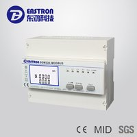 SDM530-Modbus Three Phase Multifunction Four Wires DIN Rail Energy Meter with RS485 Modbus RTU and Pulse output,CE Approved