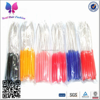 Freeshipping - 200pcs Plastic Hand Hair Threader / Stainless Steel Wire / Pulling Micro Rings Links / Loop Hair Extension Tools