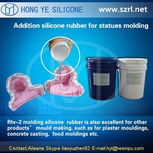 Addition cure silicone rubber for statue shaped mold