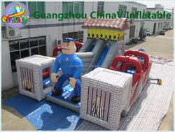 Alcatraz Island inflatable obstacle course,cheap inflatable obstacle course,outdoor obstacle course equipment