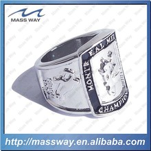 customized 3D zinc alloy engraved women men national championship ring