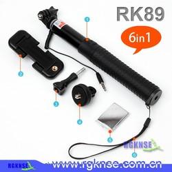 intergrated audio cord mini foldable selfie stick portable no bluetooth selfi. Black Bedroom Furniture Sets. Home Design Ideas