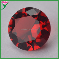 wholesale bulk cheap round garnet color glass stone for jewelry