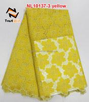 beautiful fabricnet lace for dress of NL10137 yellow