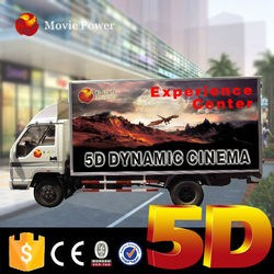 Large carrying capacity trailer moving 3d/4d/5d/6d cinema theater movie mo
