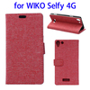 OEM service Oxford Cloth Magnetic Leather case for wiko Selfy 4G