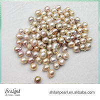Golden freshwater loose pearls no holes