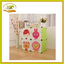 Ctue cartoon foldable storage wardrobe &2-layer toys ,clothes ,sundries modular storage ark for kids