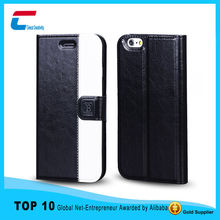 Alibaba best seller products leather flip cover case for iphone 6 , two color mix leather phone case for iphone 6