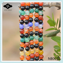 NB0017 Natural Semi precious Stone Bead 4mm 6mm 8mm 10mm loose bead Mix Color Agate stone