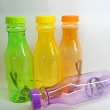 COLOR plastic MILK BOTTLE WITH METAL HANDLE