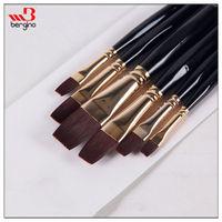 BGN-706B Bergino superior quality watercolor painting artist brushes wholesale flat shape paint brushes