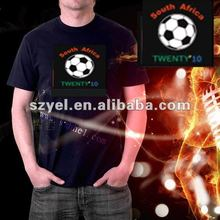World cup LED flashing t-shirt eye attractive