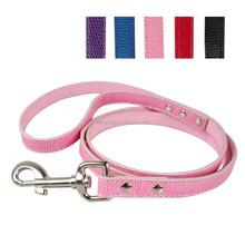 Hot sale wholesale soft snake leather pet dog lead hook dog leash