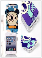 New Style Lovely Cartoon 3D Monsters Robot Cover on Blue-light Soft TPU Cell Phone Case For iPhone4 4s 5 5s From Alibaba China