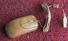 Vintage high quality mini bamboo mouse
