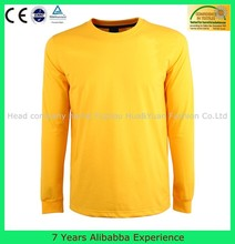 New fashion plain t - shirt / long sleeve tshirt / yellow custom mens t shirt manufacturing- 7 Years Alibaba Experience