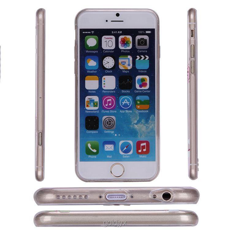 fashion transparent tpu phone case for iphone 6