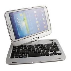 Aluminium alloy bluetooth keyboard , Creative 360 rotation Bluetooth Keyboard for Samsung Galaxy Tab
