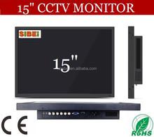 hdmi vga dvi input pot 15 inch public square security video led cctv monitor