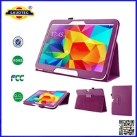 Book style stand leather case for Samsung Galaxy tab 4 10.1 T530, sleep wake up function