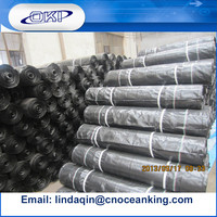 """China PP fabric 70gsm 4"""" x 4"""" 24"""" x 100' electro galv. Wire Back Silt Fence"""