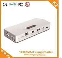 Start current 400A 12v 400A 12000mah battery jump starter electricity Storage 6 month use for vehicle