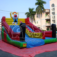 Clown inflatable bouncer slide for commercial
