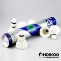 De alta calidad de bádminton hko-5 superior de plumas de pato plumilla/volante bádminton en china pato volantes de pluma para