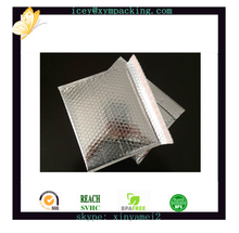 silvery aluminum foil bubble packing bags