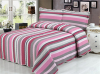purple stripe 100% cotton bed spread different kinds of bedding set colorful quilt cover set zy4001(1)K