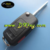 High quality 3 buttons key car with ID46 chip 433mhz 5k0837202F for vw toureg key key for volkswagen
