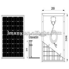 levelA monocrystalline silicon solar panel