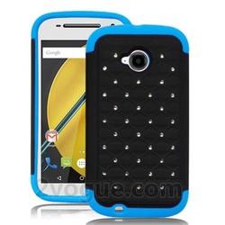 diamond jolt case,bumper bling armor protector case for boost mobile moto e,2nd