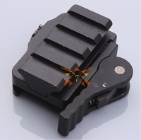 Aluminum Compact Tactical QD Quick Release Mount Adapter 5 Slots Fit 20mm Picatinny Weaver Rail Base Hunting Accessories