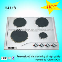 stainless steel 4 burner CE electric hotplate stove