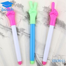 Ball pen / finger shape ball pen/ plastic ballpoint pen with printing