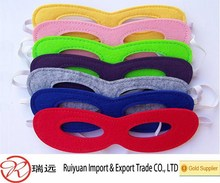 2015 fashion design colorful felt superhero mask for kids