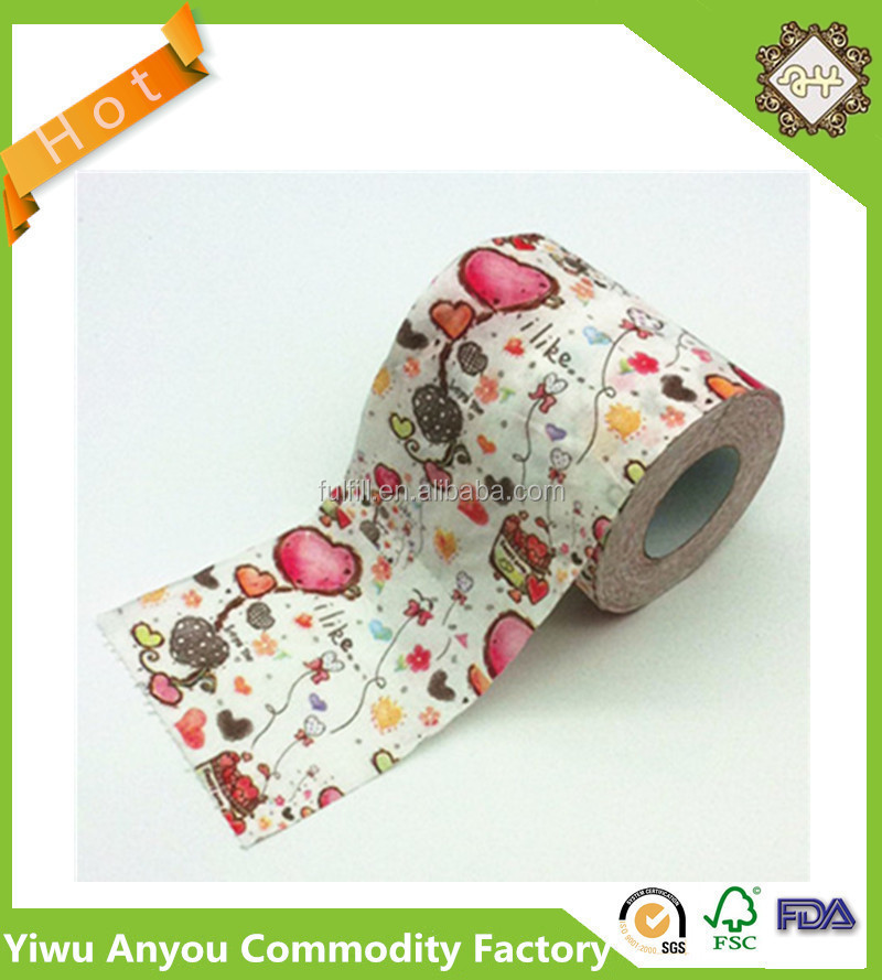 Love heart style paper toilet tissue jumbo roll paper for Design your own toilet paper