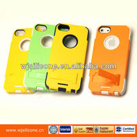 2014 new style silicone case with PC cover for iphone 5S