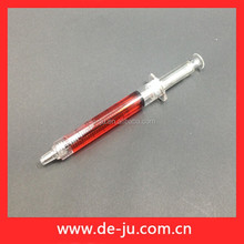 Red Water Cylinder Advertisement Promotional Plastic Ball Pen