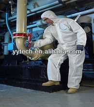 Disposable protective clothing with collar polyester clothing nuclear radiation protect clothing