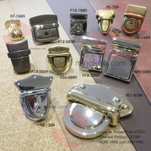 Hot sale plates anti-brass metal clasps for leather